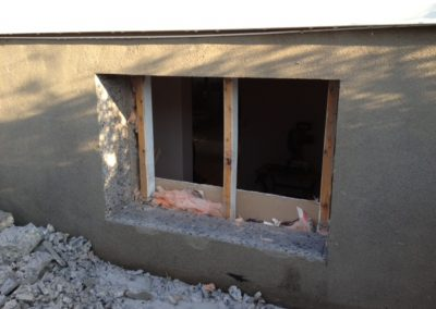 Ouverture de mur en pierre, brique ou béton pour fenêtre | Sciage de béton J.Vaillancourt et fils inc.