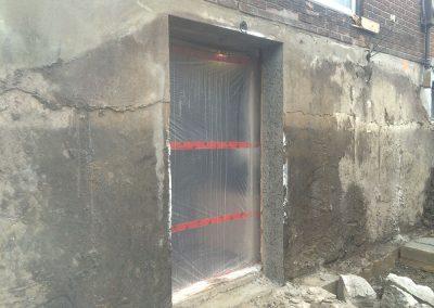 Ouverture de mur pour porte a Repentigny - Sciage de beton JV