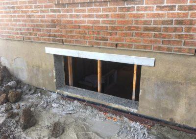Installation de fer angle galvanisé - Siage de beton JV